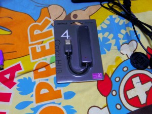 iBUFFALO USB2.0Hub バスパワー 4ポート ブラック