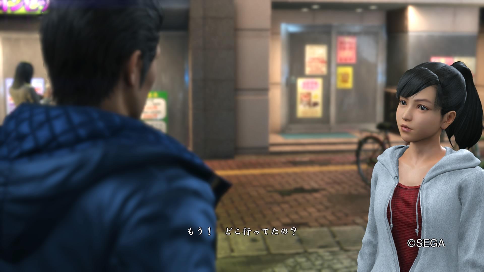 神室町に観光に来ていた様子。遥ちゃんが買い物を済ませてる間に桐生一馬が神室町の問題を解決していたとの設定。